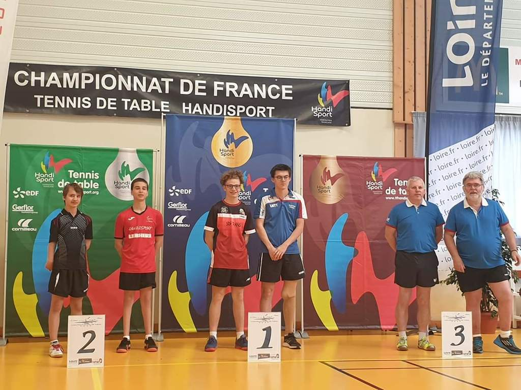 Julien champion de France en doubles handisport